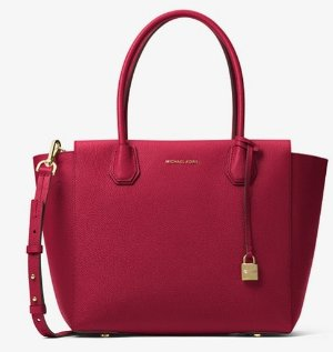 $229.6 (Org. $328)MICHAEL KORS STUDIO Mercer Large Leather Satchel @ Michael Kors