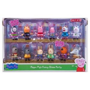 Peppa Pig Fancy Dress Party Figures - 12 Pack : Target