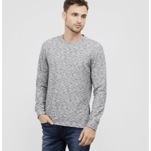 Side-Zip Spaced Dye Crewneck | Kenneth Cole