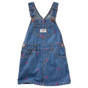 Toddler Girl Schiffli Heart Jumper   OshKosh.com