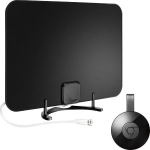 Chromecast & Rocketfish HDTV Antenna Package