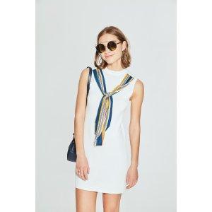 Skinny Sleeveless Scarf Dress TP1829