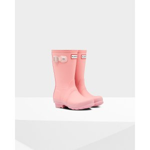 Kids Pink Contrast Sole Rain Boots | Official US Hunter Boots Store