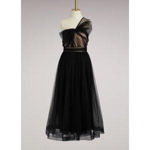 RED VALENTINO - One Shoulder Cocktail Dress