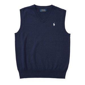 Cotton Sweater Vest - Sweaters � Boys' 8-20 - RalphLauren.com