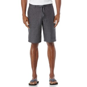 Linen Washed Drawstring Short - Perry Ellis
