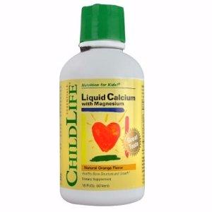 $9.21 (原价$19.79)ChildLife 童年时光钙镁锌补充液 16盎司(橘子口味)