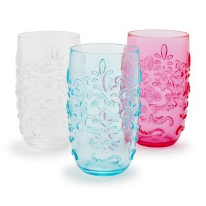 Outdoor Acrylic Floral Highball Glass | Sur La Table
