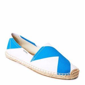 Blue & White Dali Espadrille Flats - Century 21