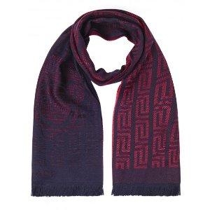 Versace Collection 100% Wool Scarf – Raspberry