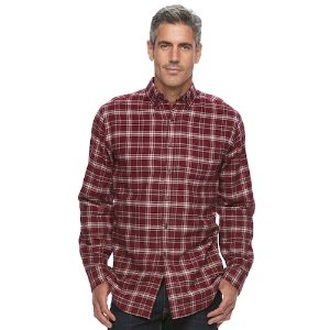 Men's Croft & Barrow True Comfort Plaid Classic-Fit Flannel Button-Down Shirt