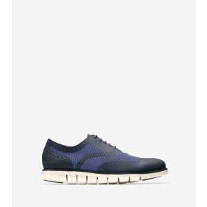 ZEROGRAND No Stitch Oxfords in Navy Ink-Indigo-Ivory | Cole Haan Outlet
