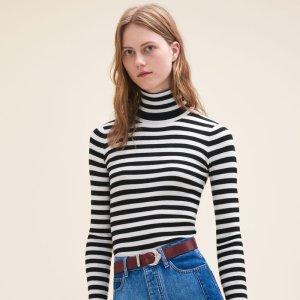 MOLLETON Striped roll-neck jumper