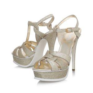 Saint Laurent Tribute Glitter Sandals 105