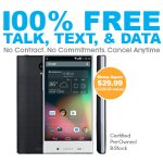 Sharp Aquos Crystal LTE + FREE Unlimited Talk, Text, and 1GB per Month