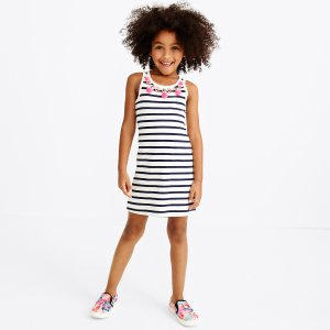 Girls' stripe pom-pom necklace dress : FactoryGirls Dresses & Skirts | Factory