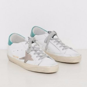 Golden Goose Sneakers Superstar in White and Petrol