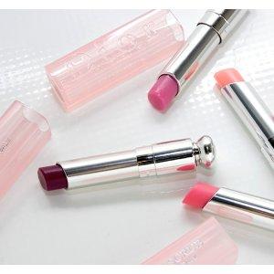 上嘴会变色气色好不挑皮的Dior唇膏,1号粉嫩,4号橘色