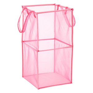 Pink Double Folding Mesh Cube