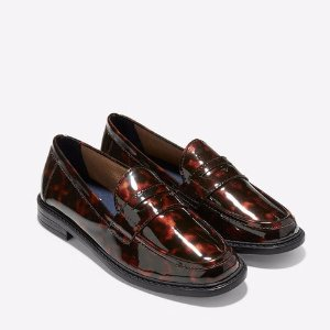 Pinch Campus Penny Loafers in Tortoise Patent | Cole Haan
