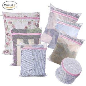 $5Laundry Bags - Set of 7 - Mesh Washing Drying Bag Durable