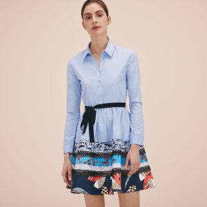 RAFINA Poplin shirt dress - Dresses - Maje.com