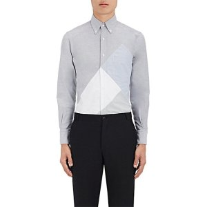 Patchwork Cotton Button-Down Shirt