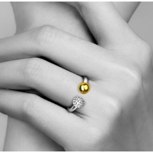 STRIKE LUCKY RING 14K GOLD-PLATED