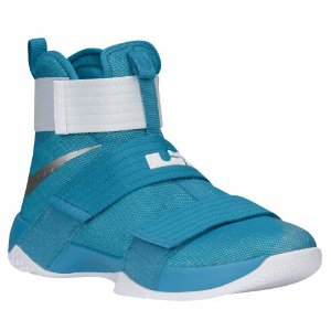 Nike LeBron Soldier 10 - Men's - Basketball - Shoes - LeBron James - Tropical Teal/Metallic Silver/White