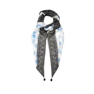 Thistle and skull-print silk-chiffon scarf | Alexander McQueen