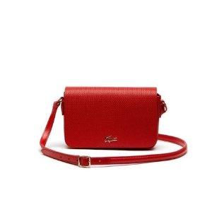 Women's Chantaco Piqué Leather Crossover Bag | LACOSTE