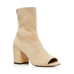 Stuart Weitzman Bigkoko Open Toe High Heel Booties | Bloomingdale's