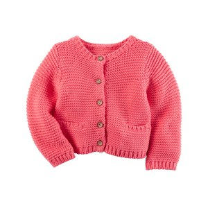 Baby Girl Purl Knit Cardigan | Carters.com