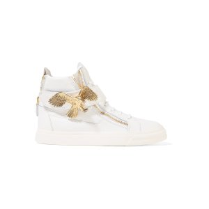 Embellished leather high-top sneakers | Giuseppe Zanotti