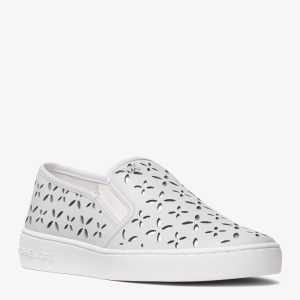 Keaton Perforated Leather Slip-On Sneaker