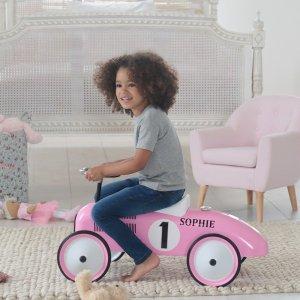 Pink & White Ride on Car