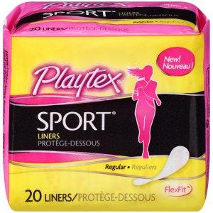 Playtex Sport Body Shape Liner, Regular, 20 Ct  by Playtex
