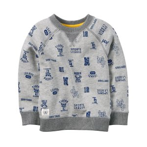 Kid Boy French Terry Varsity Pullover | Carters.com