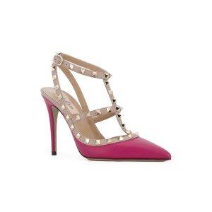 Valentino Valentino Garavani Rockstud Ankle Strap Pumps
