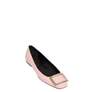 ROGER VIVIER - 10MM TROMPETTE LEATHER FLATS