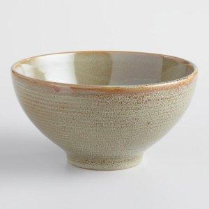 Green Zen Noodle Bowls Set of 4