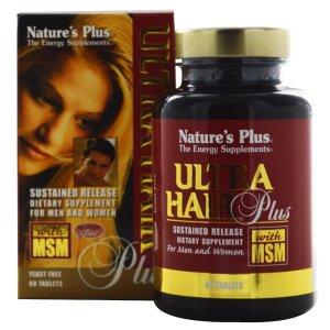 Nature's Plus Ultra Hair Plus - 60 Tablets - eVitamins.com