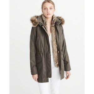 Faux Shearling Lined Parka