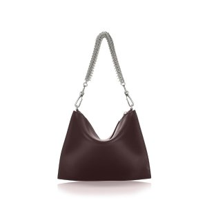 GENESIS POUCH IN CORDOVAN WITH BOX CHAIN {