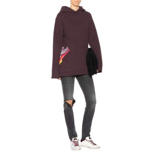 Golden Goose Deluxe Brand - Printed cotton hooded sweatshirt