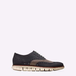 ZEROGRAND No Stitch Oxfords in Major Brown-Ivory | Cole Haan Outlet