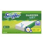 Swiffer Sweeper Wet Sweeping Pad Refills, Hardwood Floor Mop Cleaner, Cloth Refill, Lavendar Vanilla and Comfort Scent, 36 Count