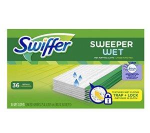 $7.9Swiffer Sweeper Wet Sweeping Pad Refills, Hardwood Floor Mop Cleaner, Cloth Refill, Lavendar Vanilla and Comfort Scent, 36 Count