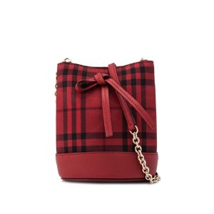 Burberry Overdyed Horseferry Check Baby Bucket Bag