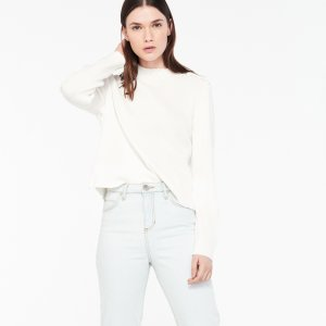 Cropped Sweater With Crocheted Buttons - Sweaters - Sandro-paris.com